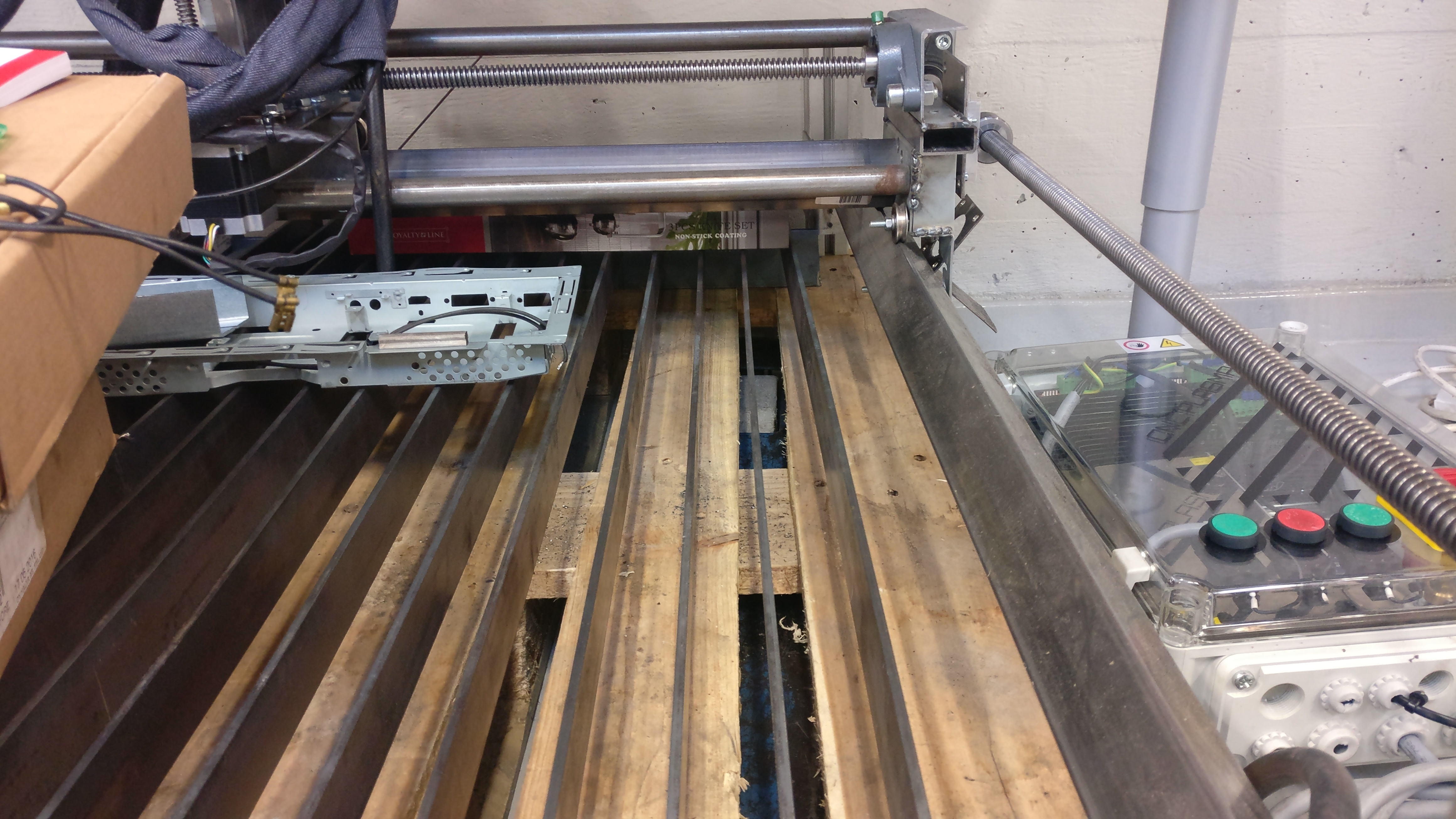 Cnc Plasma Cutter Mechatronics Exercises Aalto University Wiki In Addition Consumables On Diy Schematic The Bed Was Made Using 7 X 5x50 Mm Steel Bar That Were 2 Meters Long And Cut To 1 Meter Sections So 14 Pieces Are Obtained For